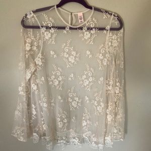 Victoria's Secret sheer lace top